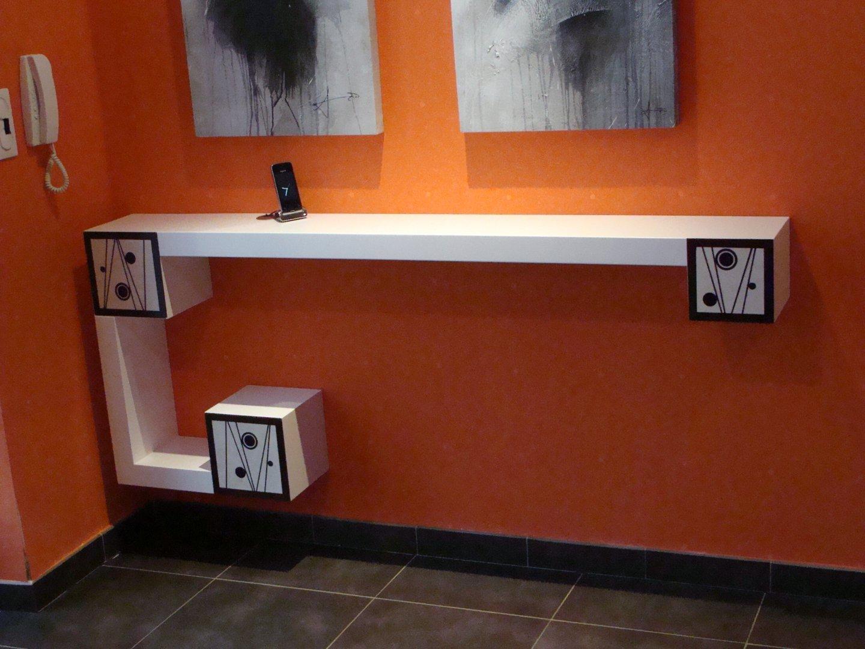 console laqu e nos r alisations de meubles. Black Bedroom Furniture Sets. Home Design Ideas