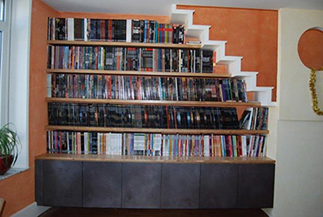 Biblioth que sous escalier nos - Bibliotheque escalier ikea ...